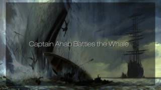 Royalty Free Captain Ahab Battles the Whale:Captain Ahab Battles the Whale