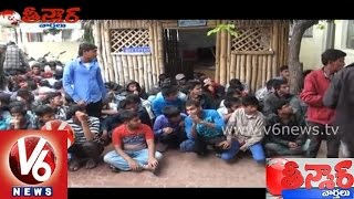 Youth are crazy in bike race in weekends at Hyderabad - Teenmaar News - V6NEWSTELUGU