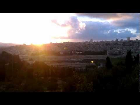 Amazing Sunset over Jerusalem, Mount of Olives, Israel, Holy Land HD
