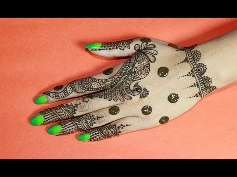 How To Draw Unqiue & Simple Henna Design : Best Mehndi Designs 2014 : LEARN HENNA STEP BY STEP