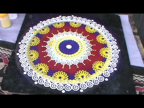 Rangoli Designs using Stencil