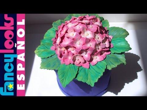 Цветок Гортензия из фоамирана, видео мастер класс