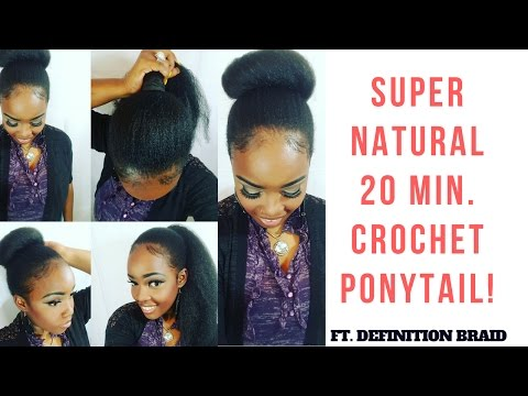 SUPER UNDETECTABLE CROCHET PONYTAIL || NO BRAIDS!
