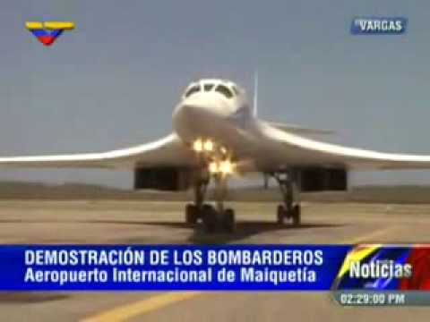 Realizan demostración de bombarderos TU 160 rusos en Venezuela