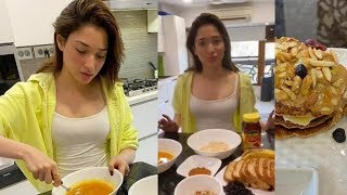 Milky Beauty Tamanna Bhatia Healthy Pancakes Cooking @ Her Home - RAJSHRITELUGU