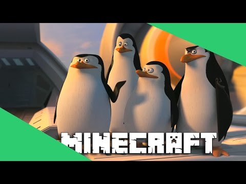 Os Pinguins de Madagascar no Minecraft