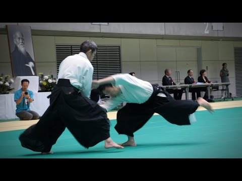 Tomohiro Mori (森智洋) - Aikido Demonstration - 12th IAF Congress (2016)