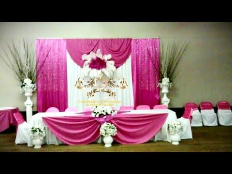 Faos Events decoracion de salon color futzia