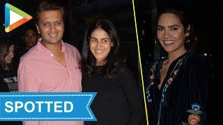 Esha Gupta , Ritiesh- Genelia SPOTTED at Yauatcha - HUNGAMA