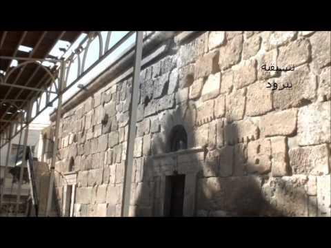 يبرود ــ اثار الدمار في اقدم كنيسة في سوريا جراء قصف قو