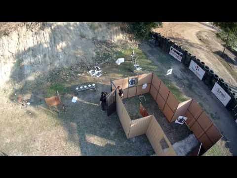 Two agents Live firing: Anna with MP5 and Tomer with pistol