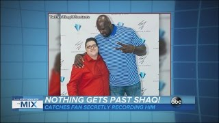 Shaq Catches Fan Taking Clandestine Video | ABC News - ABCNEWS