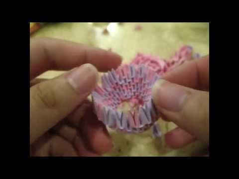 Timelapse: 3D origami lotus flower