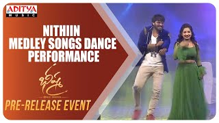 Nithiin Super Hit Medley Songs Dance Performance  @ Bheeshma Pre Release Event | Nithiin, Rashmika - ADITYAMUSIC