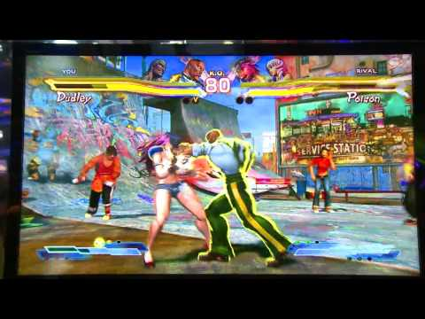 Street Fighter x Tekken Gameplay - Dudley vs. Poison - E3 2012 (Off Screen)