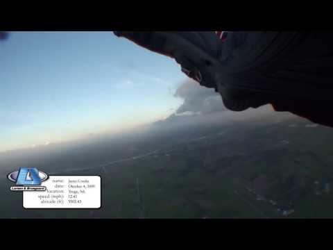 Phoenix-Fly Stealth2 - Wingsuit Canopy Flyby (8.28 mph lowest speed:)