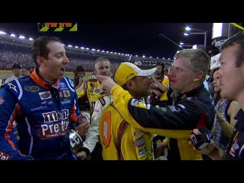 Jeff Burton has words for Kyle Busch on pit road