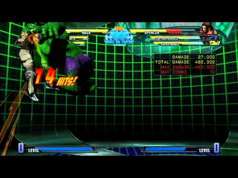 MvC3: Hulk - Combo 05 - Full Metal Gamma Double!