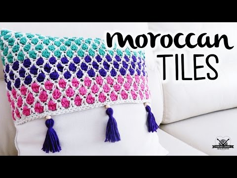 How to crochet the MOROCCAN TILES stitch ♥ CROCHET LOVERS