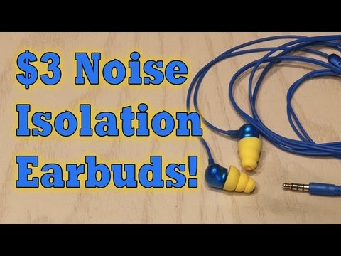 $3 Noise Isolation Earbuds!