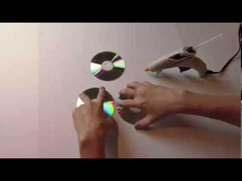 Cara Membuat Lampu Hias dari CD Bekas