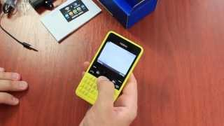 Nokia Asha 210 обзор, распаковка