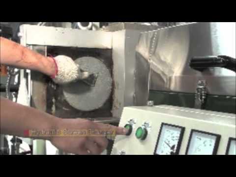 Maquina Peletizadora para reciclaje de plastico Ref. LW120 corte en caliente..