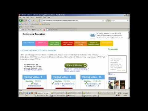 Part 2 Testng Selenium Tutorial   Selenium RC, Selenium WebDriver, IDE, Maven ANT JUNIT
