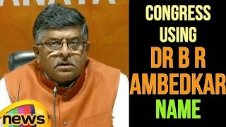 BJP leader  Ravi Shankar Prasad Blames Congress Using Dr B R Ambedkar name | Mango News - MANGONEWS