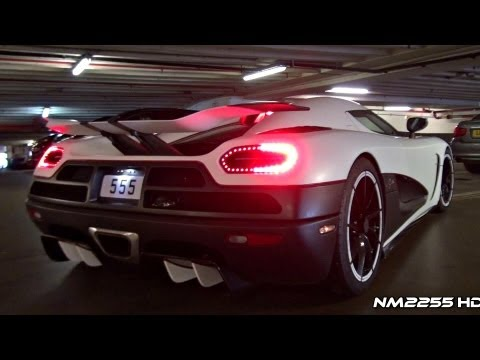 Koenigsegg Agera R Loud Sound in Parking Garage - Start & Rev