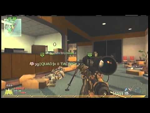 MW2: QUAD NO-SCOPE CROSS MAP!!