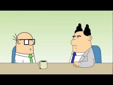 Dilbert Animated Cartoons - Wally's Priorities, Bottom of the Ocean and Drunken Lemurs