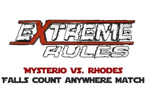 WWE Extreme Rules S v R 2011: Cody Rhodes vs. Rey Mysterio - Falls Count Anywhere Match