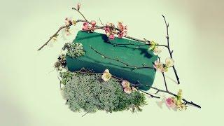 Как пользоваться флористической губкой  Оазис  Мастер класс Floral Foam master class