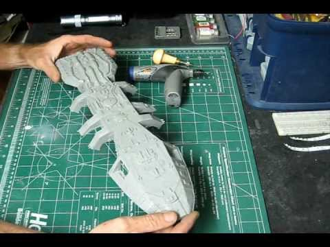 Monogram Models TOS Battlestar Galactica Video Build Series PT I