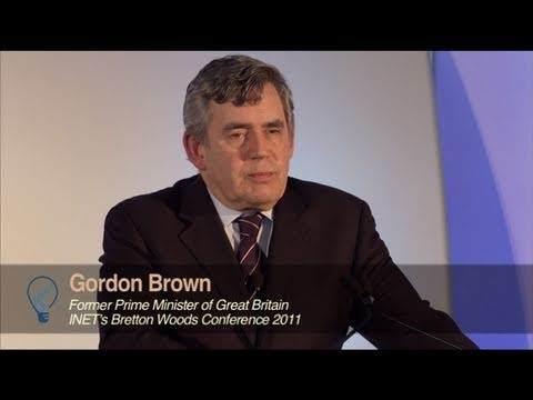 Gordon Brown at INET's Bretton Woods Conference 2011