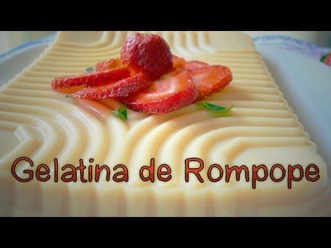 GELATINA DE ROMPOPE ~ MariquisTuts ★