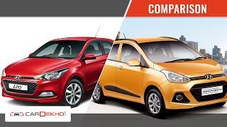 Hyundai Elite i20 vs Hyundai Grand i10 | Video Comparison | CarDekho.com