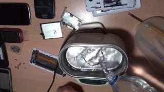 Micromax Q380 после падения в тазик с H2O. Купание в УЗВ.