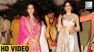 Janvi Kapoor And Sara Ali Khan's Gorgeous Looks At Ambani's Ganpati Celebration | LehrenTV