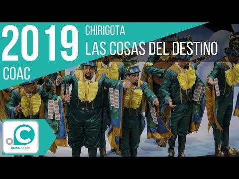 La agrupación Las cosas del destino llega al COAC 2019 en la modalidad de Chirigotas. Primera actuación de la agrupación para esta modalidad.