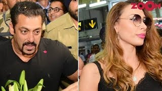Salman & Iulia get into trouble due to Salman's fans at an Airport | Bollywood News - ZOOMDEKHO