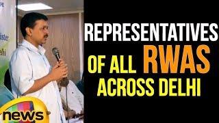 Delhi CM Arvind Kejriwal's interacted with the representatives of all RWAs across Delhi   Mango News - MANGONEWS
