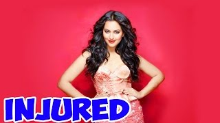 Sonakshi Sinha shoots for a songs inspite her leg injury! | Bollywood News