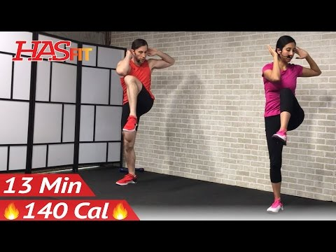 13 Min Standing Ab Workout for Women & Men at Home - Cardio Standing Abs Workout Abdominal Exercises