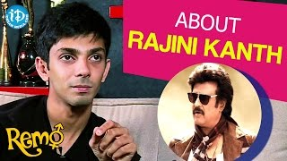 Anirudh Ravichander About Rajini Kanth | Remo Movie || Talking Movies With iDream - IDREAMMOVIES