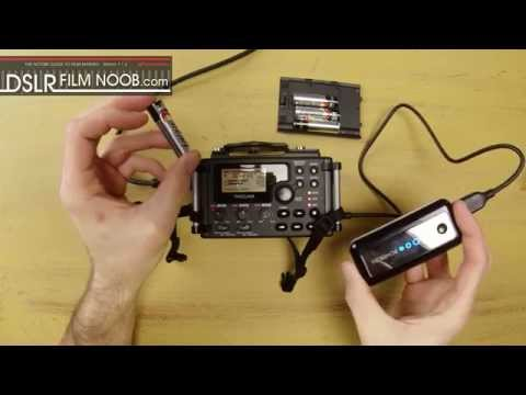 Tascam DR-60D run from a USB power pack - DSLR FILM NOOB