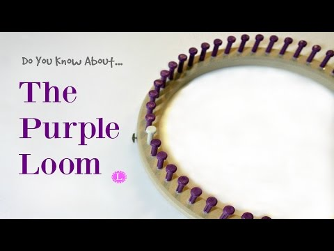 Purple Knifty Knitter Replacement Loom by CinDwood