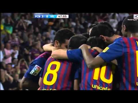 Primer gol de Alexis Sanchez con el FC Barcelona vs Villarreal 29 08 11 HD