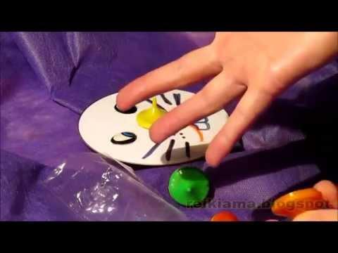 Brinquedos para Pascoa pião e fantoche com molde